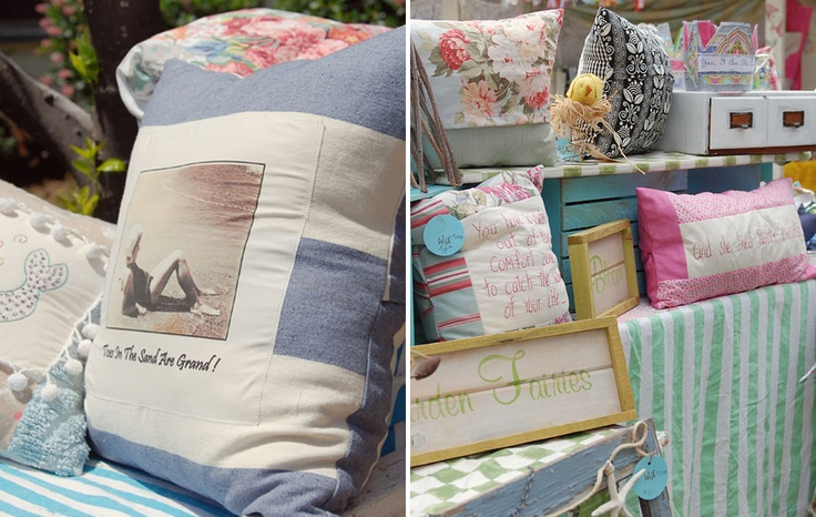 Seaside Cottage cushions Pam Small