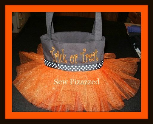 Trick or Treat Halloween Tutu Tote Bag by SewPizazzed on Etsy,