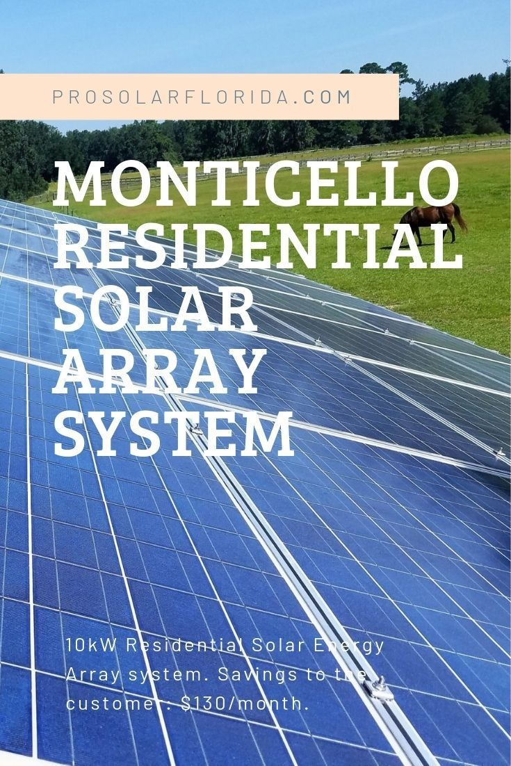 Monticello Residential Solar Power Florida Em 2020