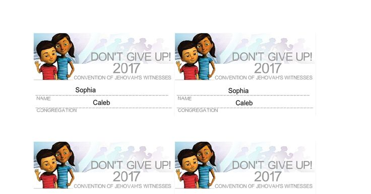 2017 Jehovah's Witnesses Convention Sofia and Caleb Badge
