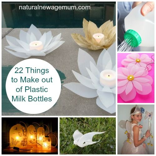 22 things to make out of plastic milk bottles upcycle for Things to do with plastic bottles