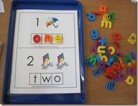 Math centers: Center Ideas, Math Center, Color, Magnets Letters, Preschool Ideas, Math Ideas, Numbers Words, Numbers Activities, Free Printable