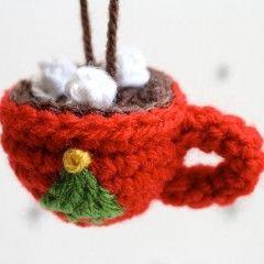 Crochet Hot Coco Christmas Ornament -Sheepish Knit Crochet/Etsy.com