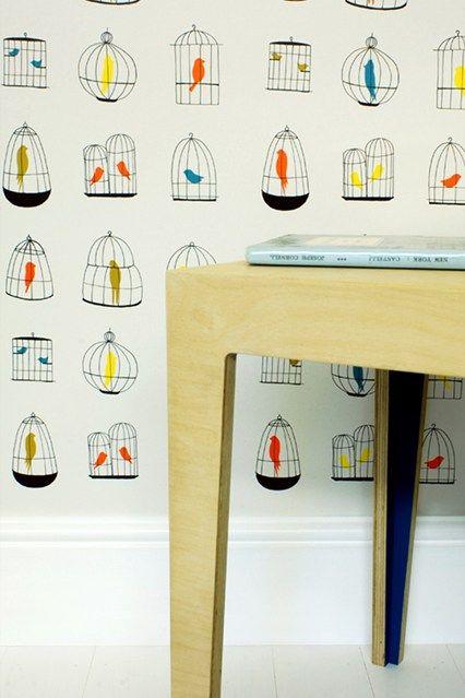 Birdcage - Wallpaper Ideas & Designs - Living Room & Bedroom (houseandgarden.co.uk)