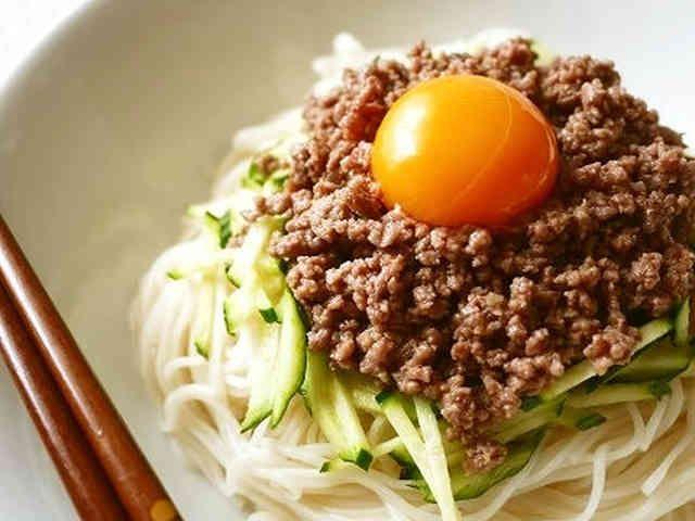 ジャージャー麺風♪甘辛肉味噌乗っけ素麺の画像