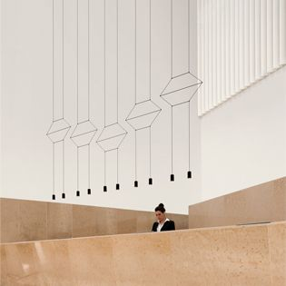 Wireflow pendant designed by Arik Levy. http://www.vibia.com/en/blog/entry/id/139/hanging_sculptures_light_fittings_with_infinite_possible_configurations.html?utm_source=organic&utm_medium=pinterest&utm_campaign=sculptural_pendants&utm_source=pinterest&utm_medium=organic&utm_campaign=wallarts&utm_content=en&utm_term=