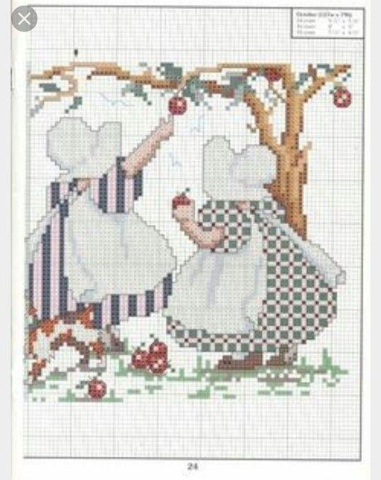 20 best Bordados damas images on Pinterest | Cross stitch embroidery ...