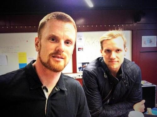 Daniel Sedin and Alex Edler in Sweden for the World Hockey Championships