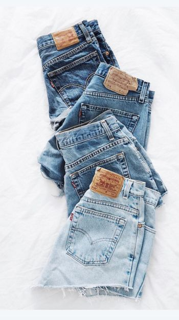 Denim daze. Choose your favorite wash in 501 shorts for summer.