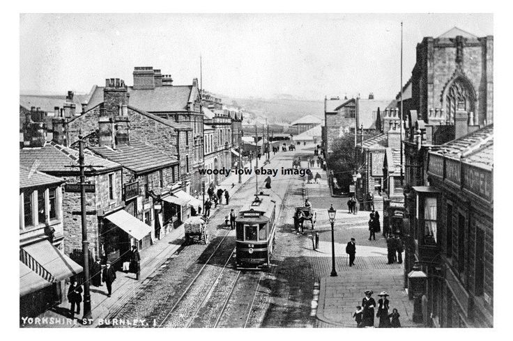 Tram on Yorkshire Street , Burnley , Lancashire - photo 6x4 in Collectables, Postcards, Topographical: British | eBay