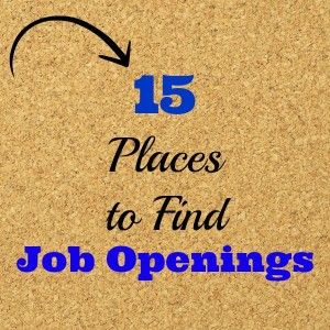 Do It Yourself 15 Places to Find #JobOpenings, #JobSearch /Earning and Saving with Sarah Fuller