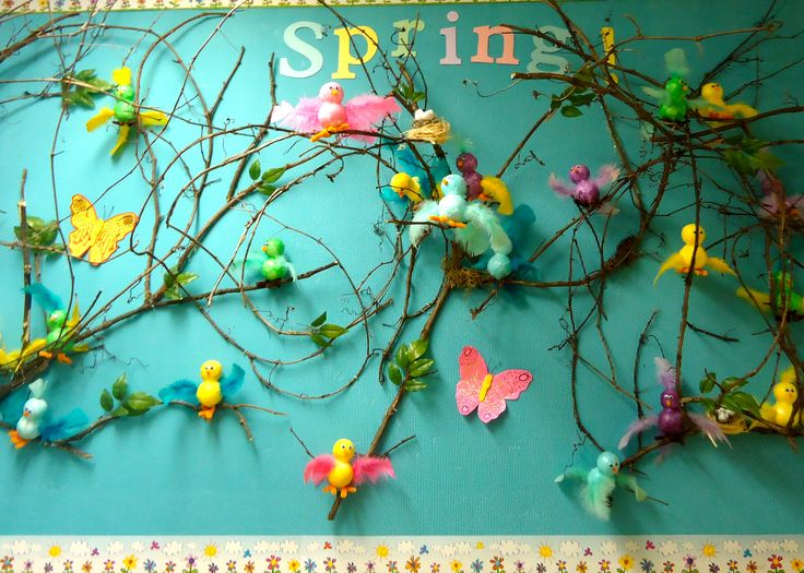3D spring board.  Kids would need LOTS of help to make birds.