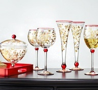 Pier 1 Jubilance Stemware and Candy Dishare unique works of art