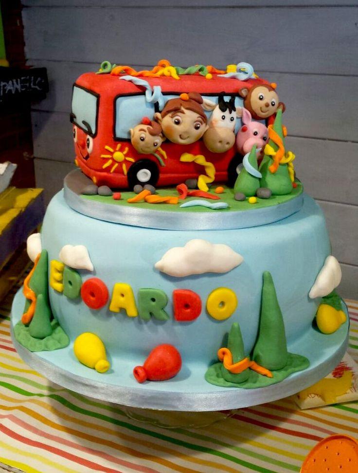 Questo è un piccolo catalogo con qualche immagine del repertorio proposto fino ad oggi per feste di compleanno e per bambini, dalla nostra cake design. In particolare torte con personaggi Disney, Pixar, Warner Bros,Dreamworks, Laika che fanno colore e perchè no, possono ispirarvi! spero vi piacciano! :)  nello specifico: festa a tema autobus/bus/treni/camion per il piccolo Edoardo!  Wheels on The Bus!