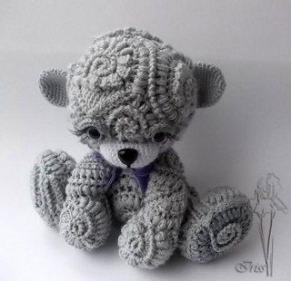 Textured amigurumi teddy bear by Rachie Hanson