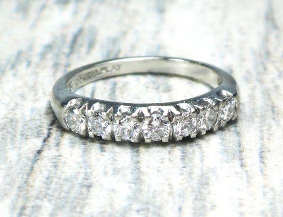 Vintage Platinum Diamond Wedding Ring Platinum Wedding Band Vintage Diamond Wedding Band Vintage Wedding Band Diamond Wedding Ring