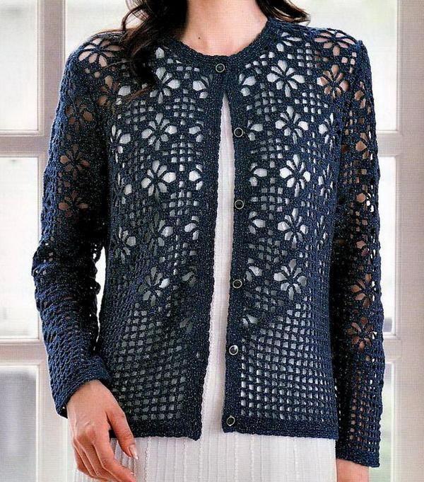 Ganchillo suéteres: Cardigan - Cardigan patrón de ganchillo