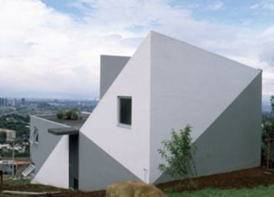 House on a slope