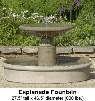garden fountains salem oregon metal sale buy esplanade fountain by international with free delivery for from solar