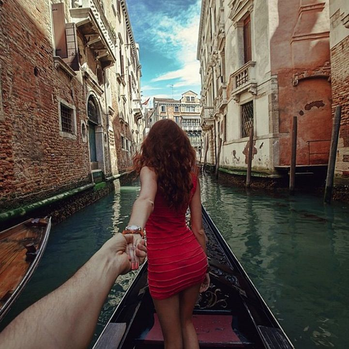 Best Follow Me To Project Images On Pinterest World Couples - Guy photographs his girlfriend as they travel the world