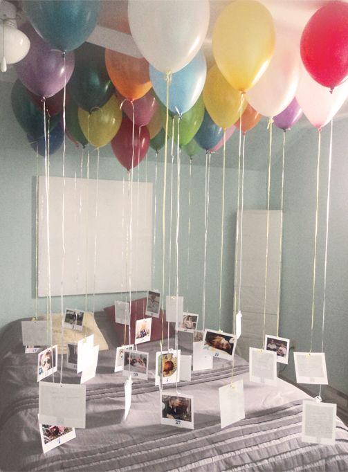 romantic balloon surprise