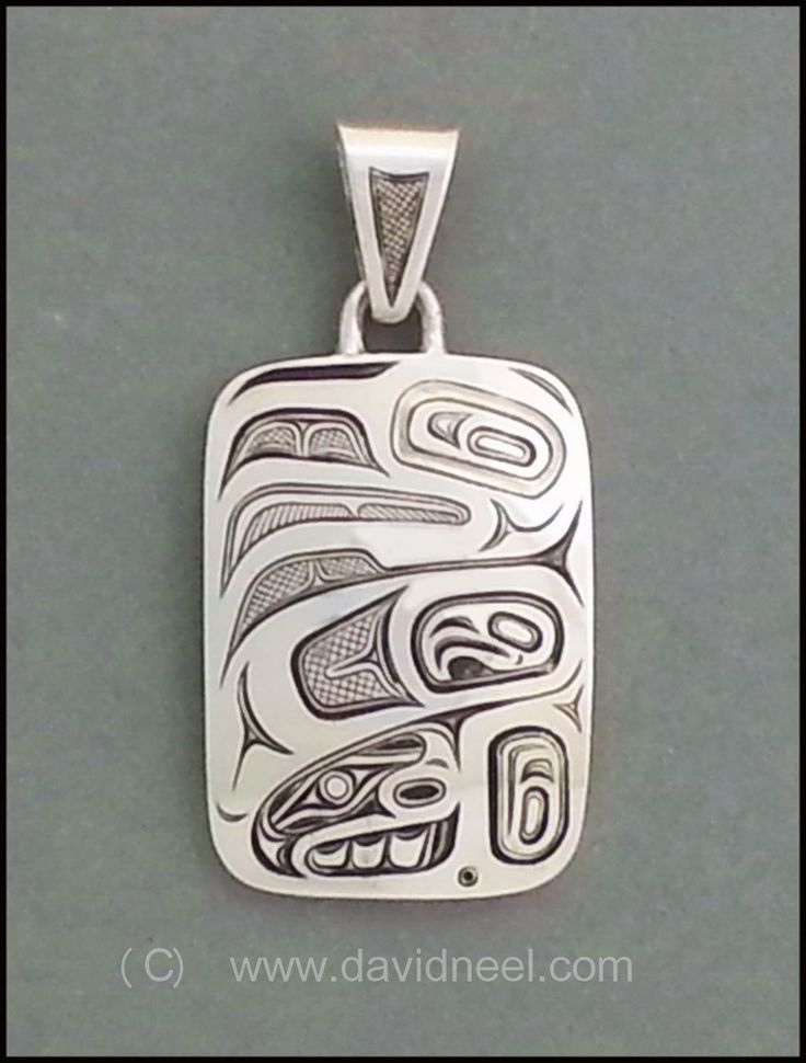 36 best pendants northwest coast indian images on pinterest an experiment in fine detail engraving this silver eagle pendant is just 1 x mozeypictures Image collections