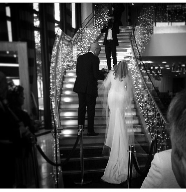 Movie star moment for our bride Rachel. The perfect fit of Rachel's gown is shown here in all of it's glory. Goosebumps moment for us! #kirstydoyle #bespoke #bride