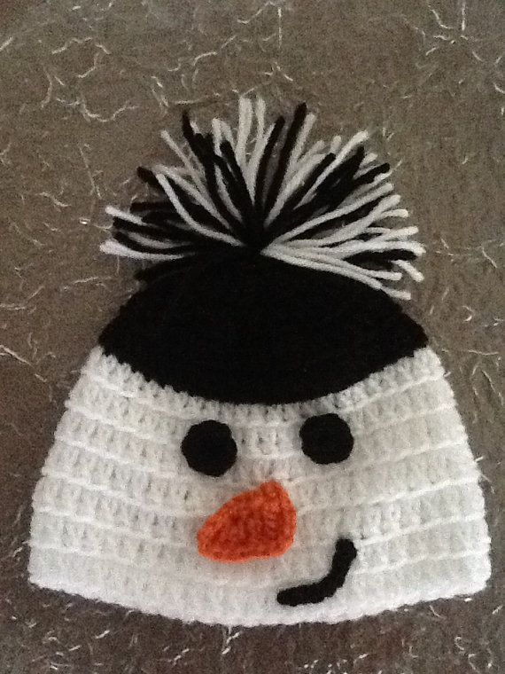 Crochet Snowman Hat by ChildofFaith on Etsy