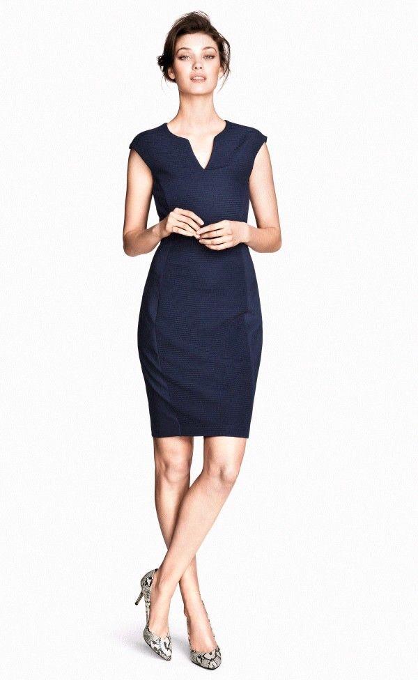 Dark blue dress h&m