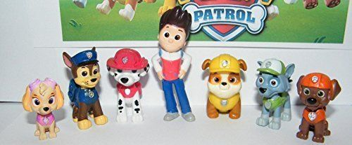 """Nickelodeon PAW Patrol Deluxe Mini Figure Toy Play Set of 12 Ryder and 6 Dogs. Nickelodeon PAW Patrol Deluxe Mini Figure Toy Play Set of 12 Ryder and 6 Dogs. This listing is for a fun """"doggerific"""" set of 12 Nickelodeon P.A.W. Partol Cartoon Mini figures each about 1 to 2.5 inches tall (see pictures) and are packaged bagged as pictured. PAW Patrol is one of the most popular cartoons on Nick Jr. and features 6 special puppies led by Ryder, a boy tech as they protect the City of Adventure…"""