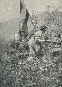 Boer riflemen on Spion Kop