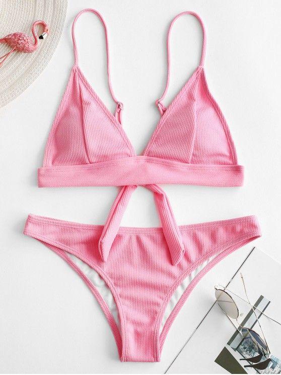 b24df3a309187 Texture Ribbed Bikini Set in 2019 | 2019 Bikinis | Bikinis, Bikini ...