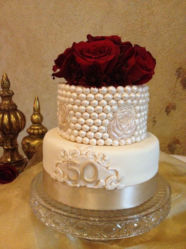 Th wedding anniversary cake by cakes clarke