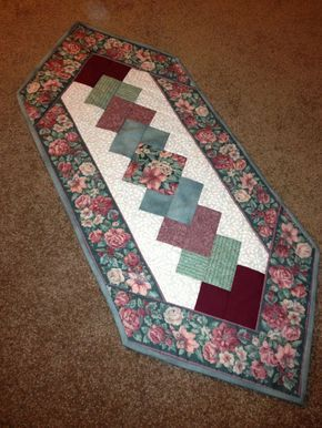 pinterest quilted table runners | Image detail for -Floral Quilted Table Runner ... | *Patterns for B...