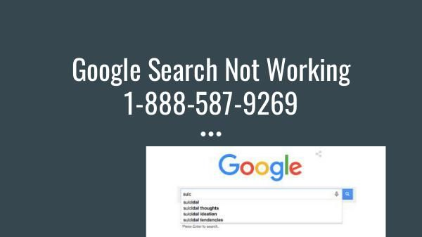 Google Search Not Working On Pc 1 888 587 9269 On Chrome Google