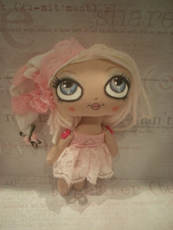 A tiny pink pixie by Lesley Jane Dolls