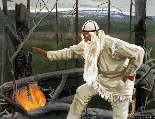 Väinämöinen, Finnish god from the folklore epic Kalevala. Imgur: The most awesome images on the Internet.