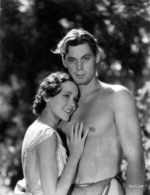 Maureen O'Sullivan & Johnny Weissmuller, Jane & Tarzan, 1934
