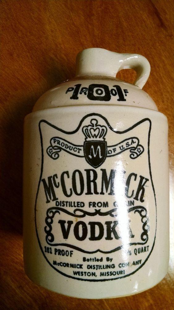 Stoneware Jug McCormick Vodka 101 Proof 4/5 Quart Bottled for Wisconsin #McCormick