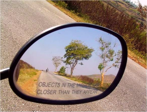 objects may appear closer. Consider for warning next to OHNO mirror piece