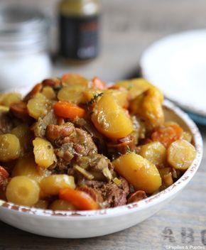Poulet aux carottes, pomme de terre et épices douces