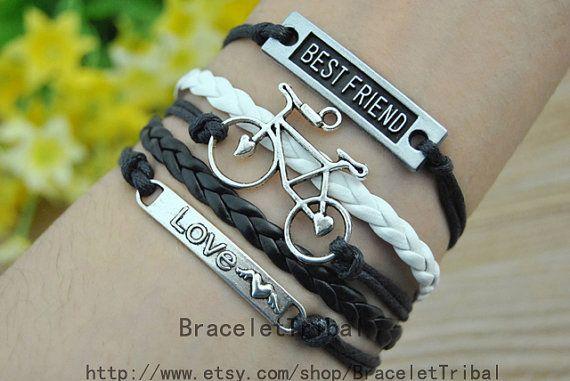 Bracelet  Bike Bracelet LOVE Bracelet Ancient by BraceletTribal, $4.50 Beautiful handmade bracelets Christmas gift