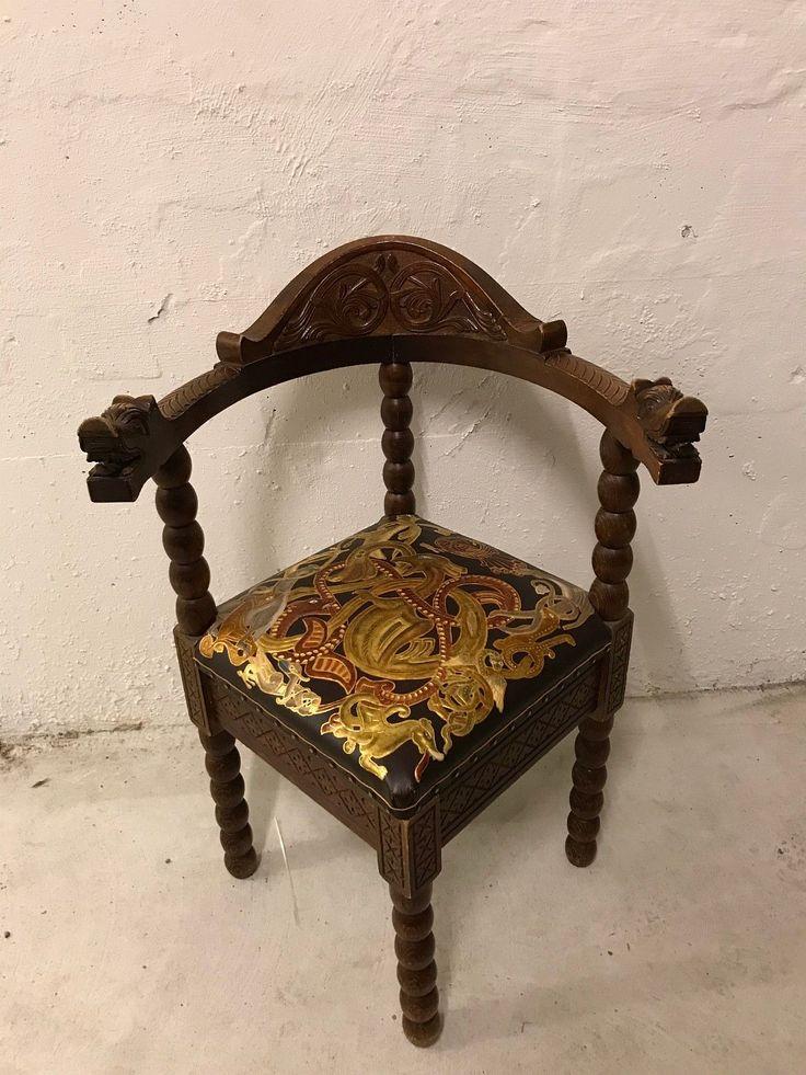 FINN – Dragestol med gyllenlær