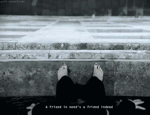 A friend in needs a friend indeed - Pure Morning  #placebo #gif #lyrics