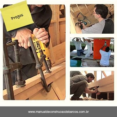 """""""Para aumentar a rapidez da construção de um barco em madeira, pode-se utilizar pregos de bronze, silício ou metal, ao invés de metal. No entanto, eles devem ter o mesmo diâmetro dos parafusos. Furos piloto são recomendados, porém com dimensões menores que o diâmetro do prego.""""  Entenda melhor sobre fixações lendo o livro Manual de Construção de Barcos. http://manualdeconstrucaodebarcos.com.br/  #DicaDoMCB #JorgeNasseh #Pregos"""