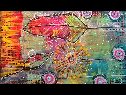 Mixed Media Tutorial | Intuitive Painting