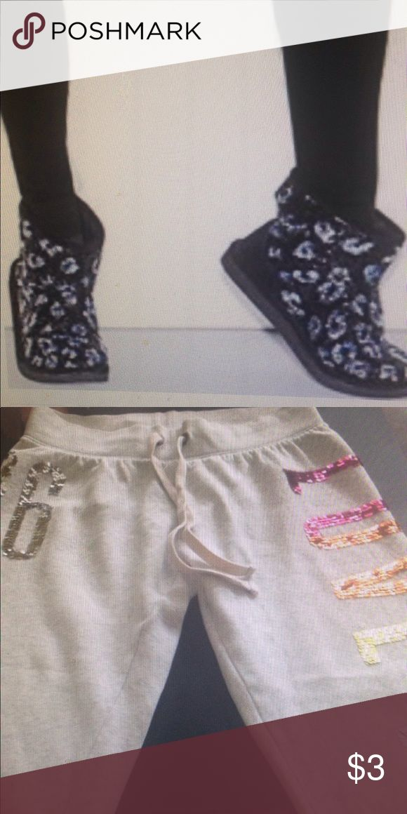 Bundle for Lisa Trade VS booties and VS PINK rainbow bling sequin pants for new Coach leather flats and CHI hair products PINK Victoria's Secret Shoes Ankle Boots & Booties