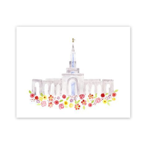LDS Sacramento California templo impresión por HollyBrookeJones