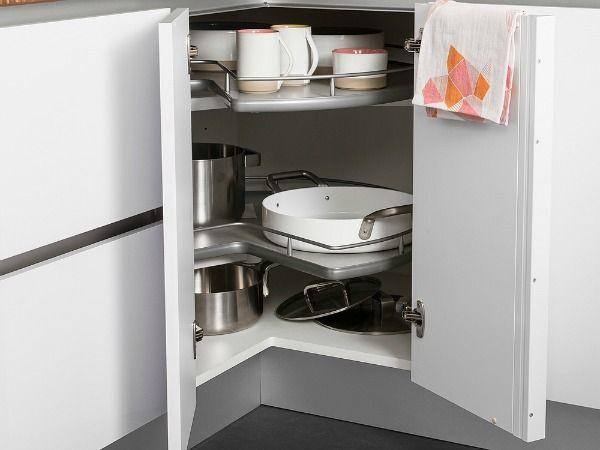 Les 25 meilleures id es de la cat gorie placard d 39 angle de cuisine sur pi - Amenagement placard d angle cuisine ...
