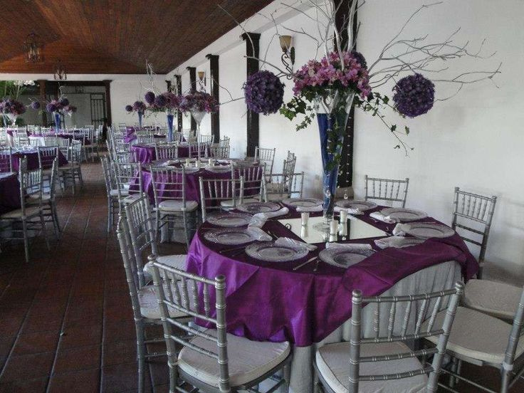 Purple & Silver Wedding Party Ideas